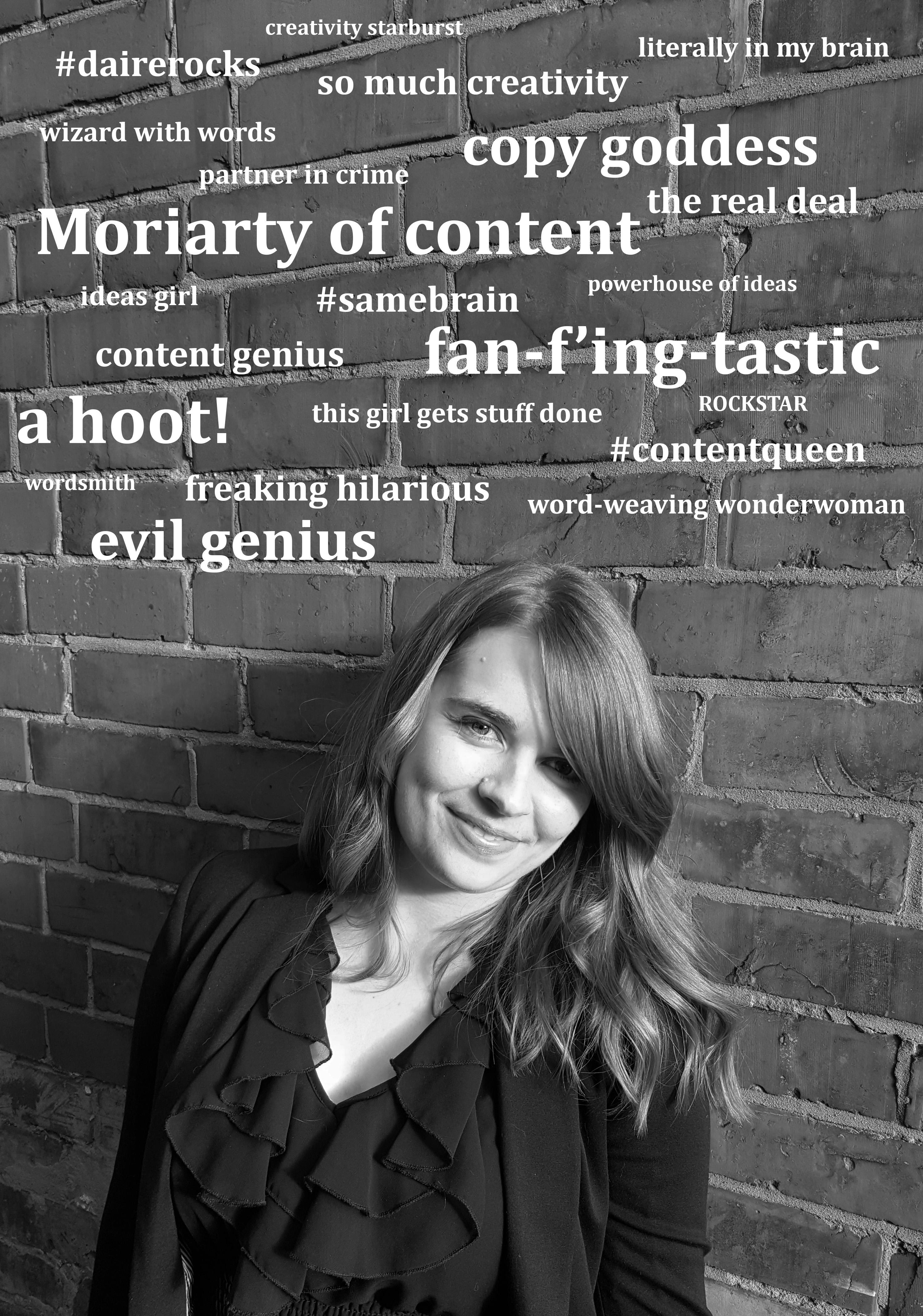 profile pic + word collage white